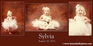 Sylvia's portraits taken at Karen Skelly Photography studio