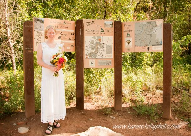 Wedding on Colorado Trail by Photographer Durang CO