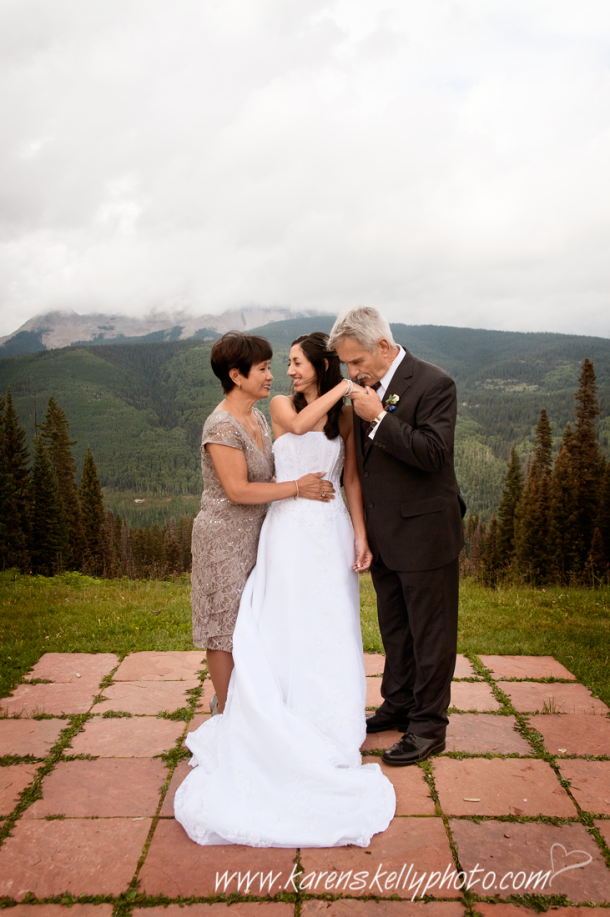 Bride with Mom and Dad, Durango Photography, Durango Wedding Photographers, Wedding Photographers Durango CO, Durango Weddings