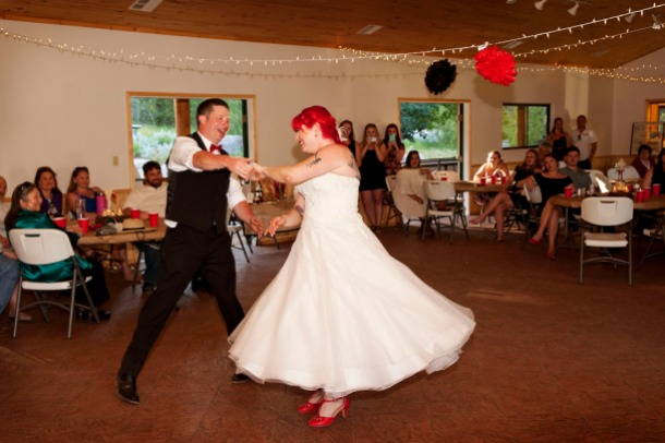 Bride and Groom's first dance, photographers in durango co, durango photography, durango photographers