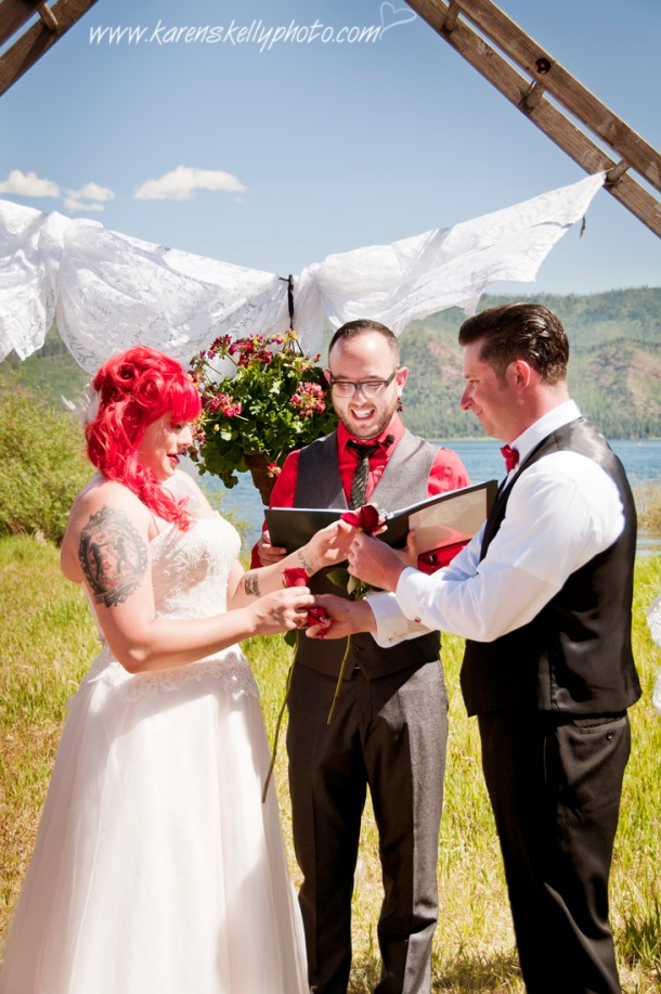 rose exchange during wedding ceremony, photographers in durango co, durango co photographers, photographers durango co, durango photographers, durango wedding photographers