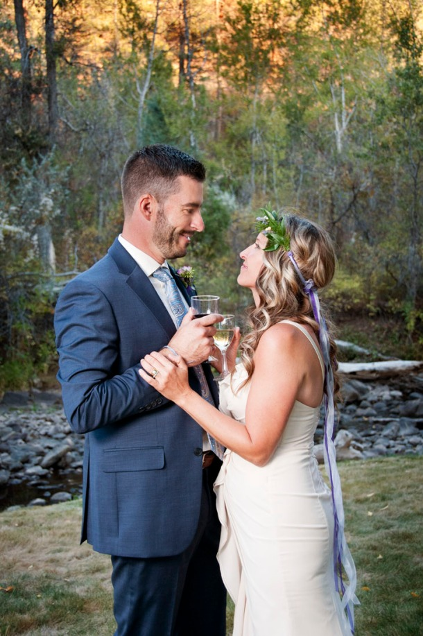 Bride and Groom toasting by Photographers in Durango CO, Durango CO Photographers, Durango Wedding Photographers, Wedding Photographers in Durango CO