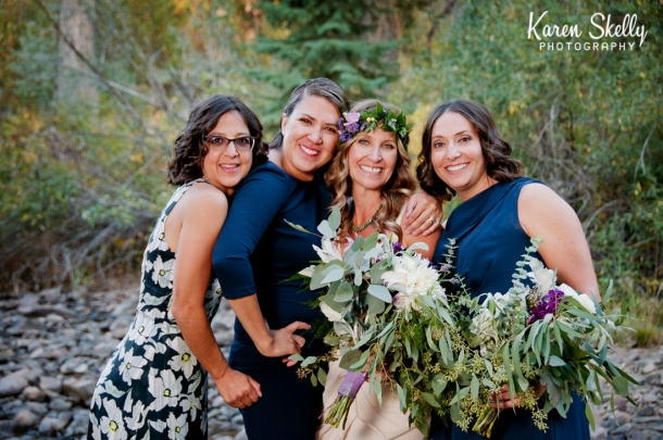Bride with her girlfriends by Photographers in Durango CO, Durango CO Photographers, Durango Wedding Photographers, Wedding Photographers in Durango CO