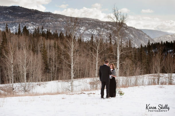 Groom reading vows to bride, photographers in durango co, durango co photographers, durango photography, durango wedding photographers, wedding photographers in durango co