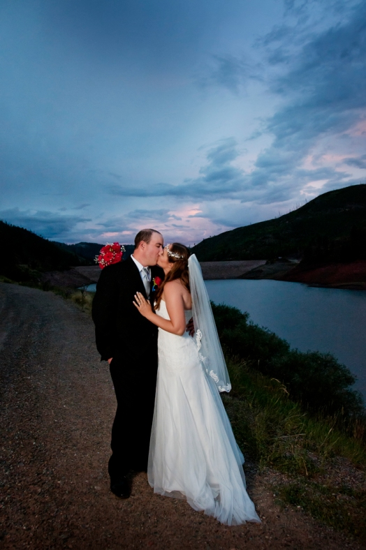 Bride and Groom at Sunset, photographers in durango co, durango photography, durango photographers