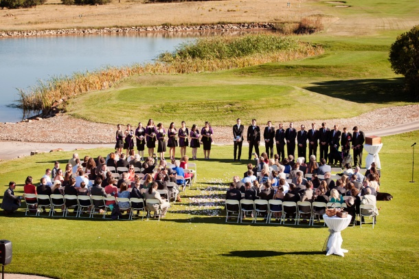 Wedding Ceremony at golf course, photographers in durango co, durango photography, durango co photographers