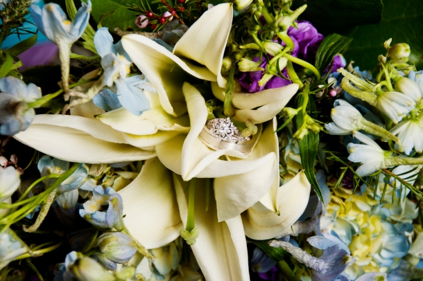 Wedding rings in bouquet, photographers in durango co, durango photography, durango photographers