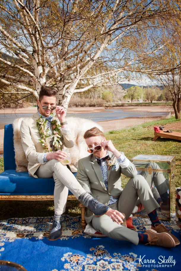 Groom and Groom with sunglasses, durango photography, durango co photographers, photographers in durango co