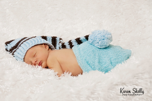 Newborn baby with hat