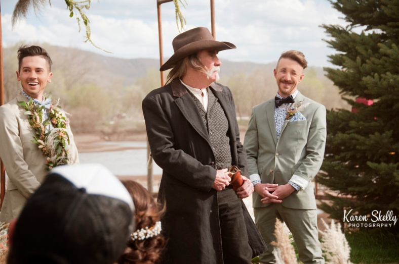 Wedding officiant asks if anybody objects, durango co photographers, durango photography, photographes in durango co