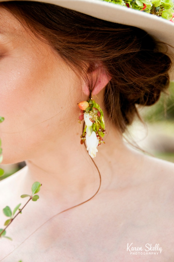Real flower earrings, photographers in durango co, durango photography, durango photographers,