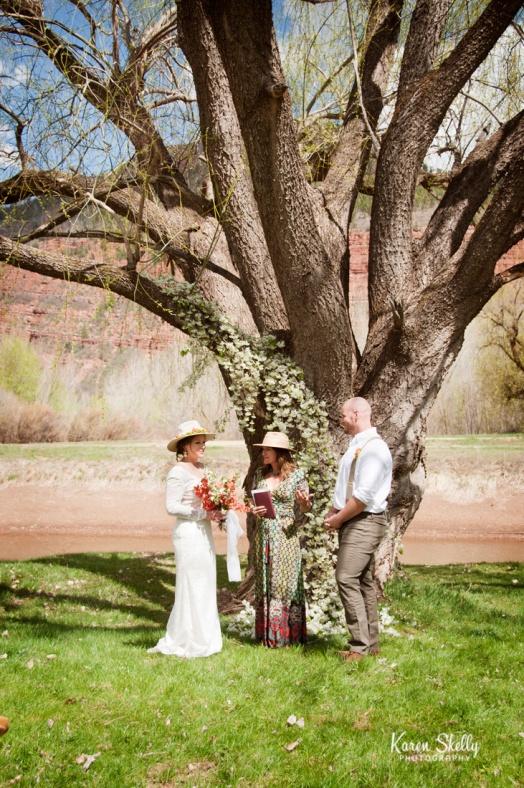 outdoor wedding ceremony, photographers in durango co, durango photography, durango co photographers